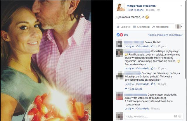 Ma�gorzata Rozenek pokaza�a zdj�cie z urodzin Radka Majdana