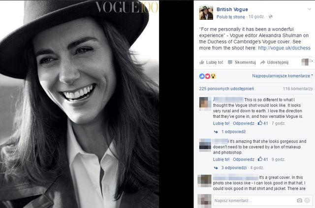 Księżna Kate na okładce brytyjskiego Vogue'a!