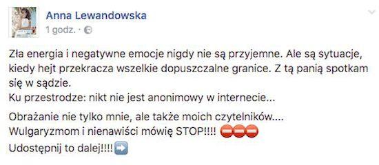 ŻARTY SIĘ SKOŃCZYŁY! Anna Lewandowska idzie na wojnę z hejterami!