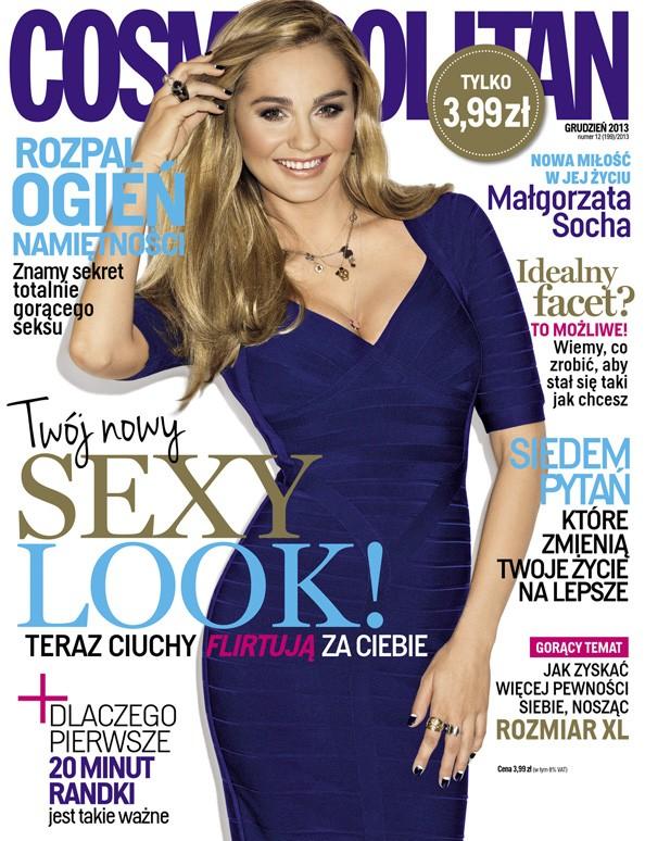 Małgorzata Socha kilka tygodni po porodzie na okładce Cosmo