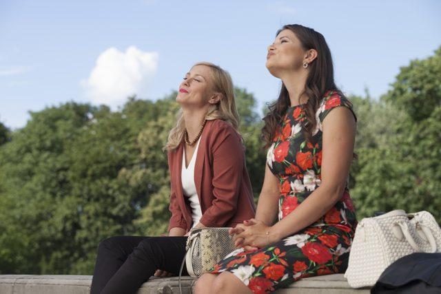 Socha i Sienkiewicz na planie nowej serii Przyjaciółek (FOTO)
