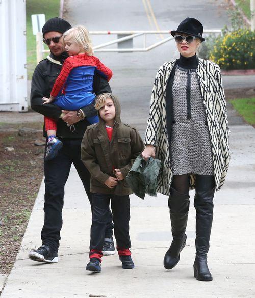 Gwen Stefani z rodziną na imprezie urodzinowej
