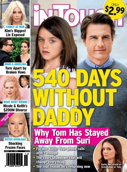 Suri Cruise nie widziała ojca przez 540 dni?