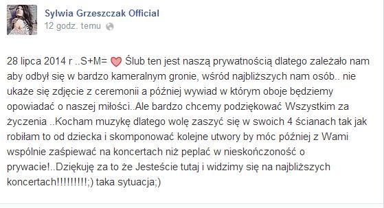 Liber i Sylwia Grzeszczak wzięli ślub!