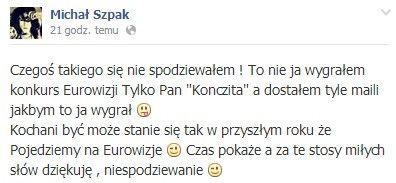 Michał Szpak naszą polską Kiełbasą!