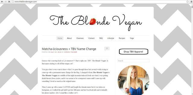 The Blonde Vgan - blogerka chora na ortoreksję robi furorę