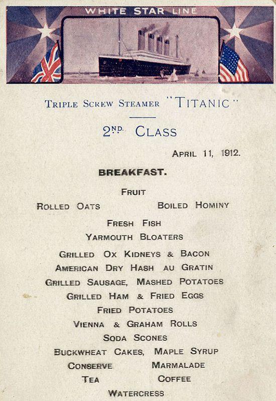 Jak wygl�da� ostatni posi�ek pasa�er�w na Titanicu? (FOTO)