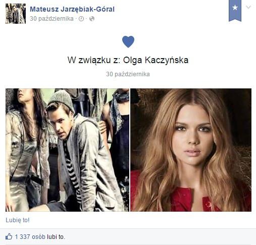 Mateusz Jarz�biak-G�ral i Olga Kaczy�ska s� par�!