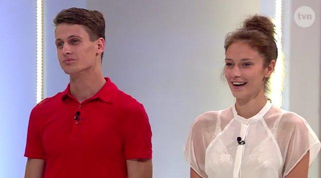 Samuel prawie nagi z Kamilą w Top Model