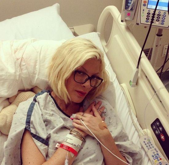 Prawdziwy powód pobytu Tori Spelling w szpitalu