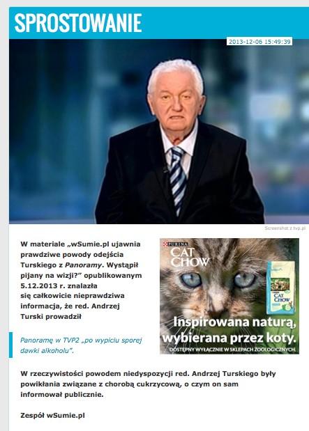 Andrzej Turski - niewiadomo czy wyjdzie ze śpiączki