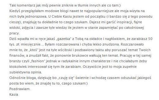 Kasia Tusk nie zarabia 50 tysięcy złotych?