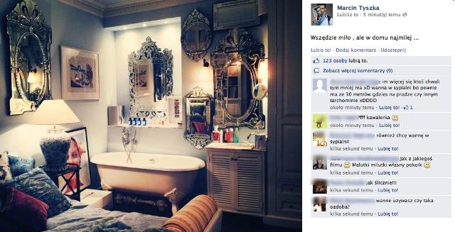 Marcin Tyszka ma wannę w sypialni (FOTO)