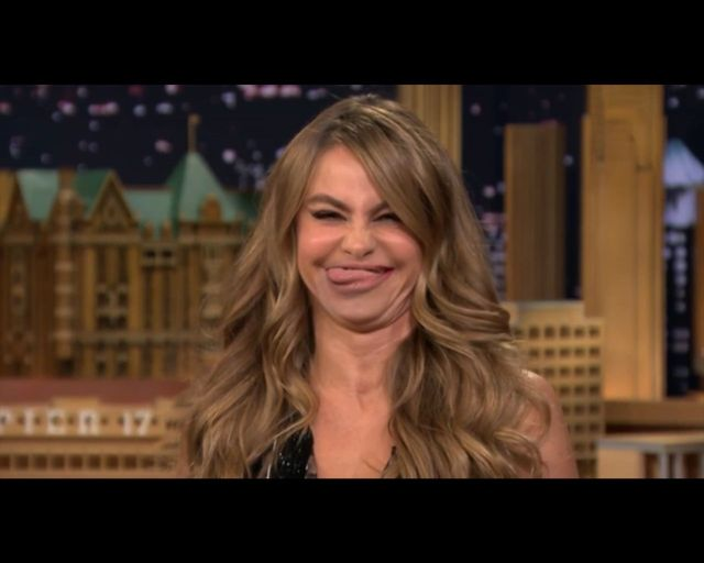 Vergara i Fallon zamienili się ustami [VIDEO]