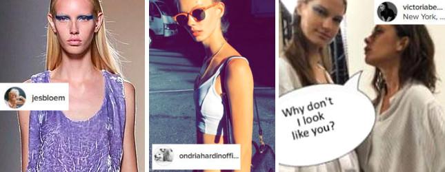 Chude modelki na pokazie kolekcji Victorii Beckham wywołały oburzenie (Insta)