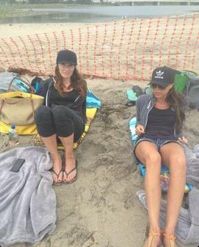Victoria Beckham też jest niezadowolona z plaży (FOTO)