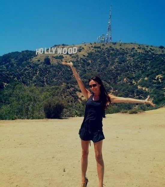 Na wzgórzach Hollywood nawet Victoria Beckham się usmiecha