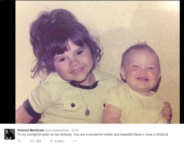 Victoria Beckam pokaza�a s�odkie foto sprzed lat (FOTO)