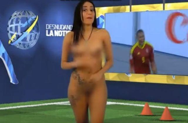 Tak cieszyła się z wygranej Wenezueli, że zrzuciła ubrania