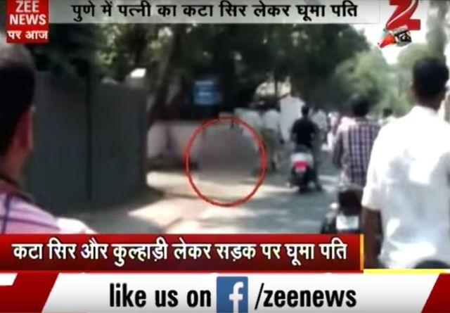 Szok! Ściął żonie głowę i niósł przez miasto (VIDEO)