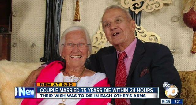 Żyli razem 75 lat i odeszli w swoich ramionach (VIDEO)