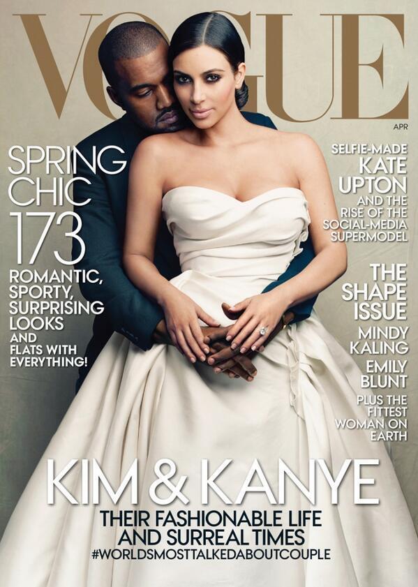 Kim Kardashian trafiła na okładkę VOGUE'A!
