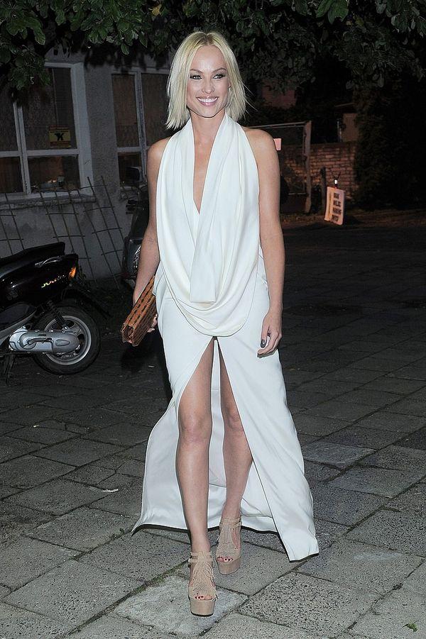 Polska aktorka w sukni godnej festiwalu w Cannes