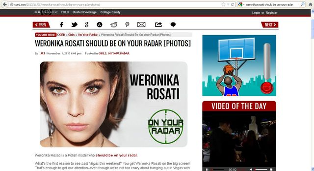 Ameryka�skie media o Rosati: Wschodz�ca gwiazda Hollywood!