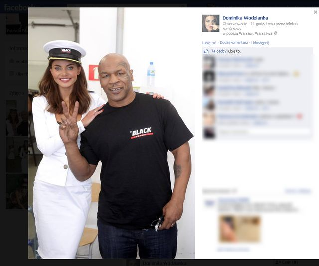Wodzianka pozuje z Tysonem (FOTO)