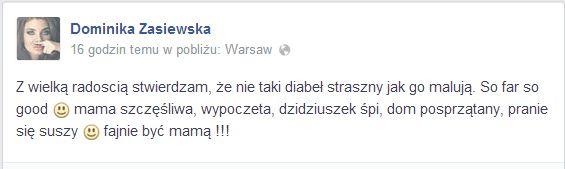 Dominika Zasiewska urodziła 4 dni temu, a już...