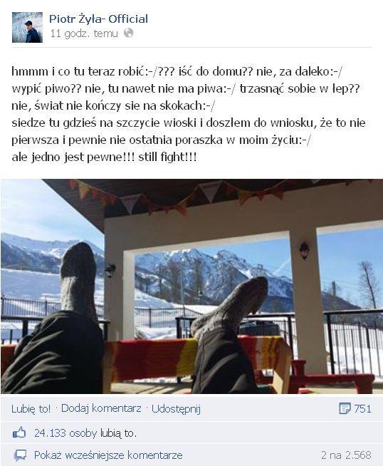 Żyła w Soczi: Doszłem do wniosku, że to nie pierwsza..