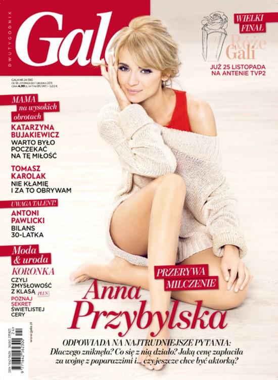Anna Przybylska piękna na okładce Gali (FOTO)
