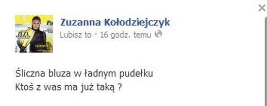 Zuzanna Kołodziejczyk chce zostać szafiarką?