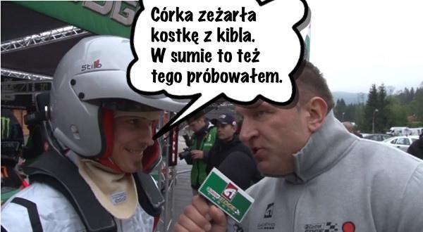 Piotr Żyła: Córka zeżarła kostkę z kibla (VIDEO)