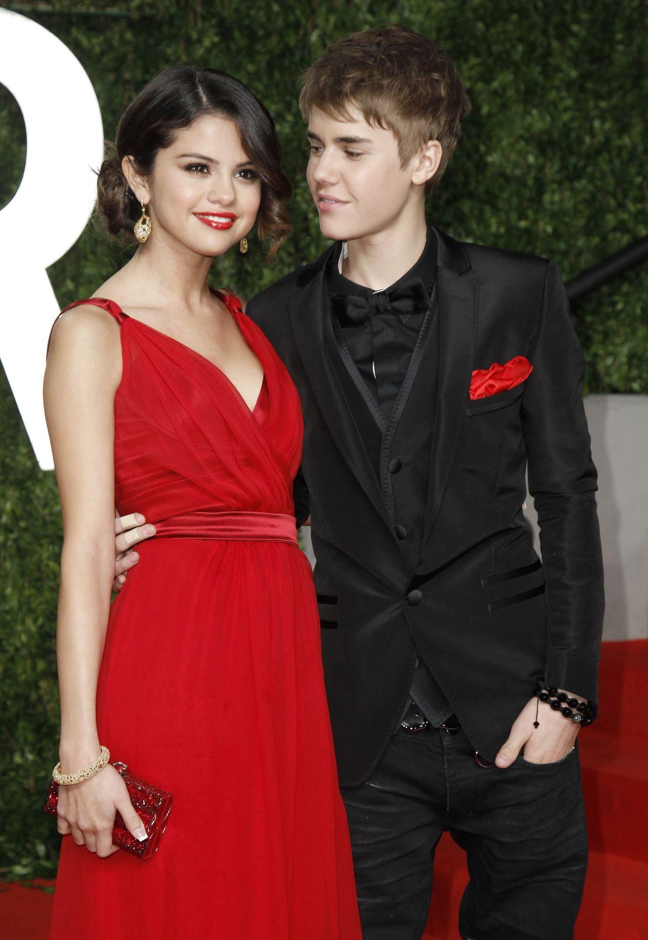 Justin Bieber i Selena Gomez gdy byli parą