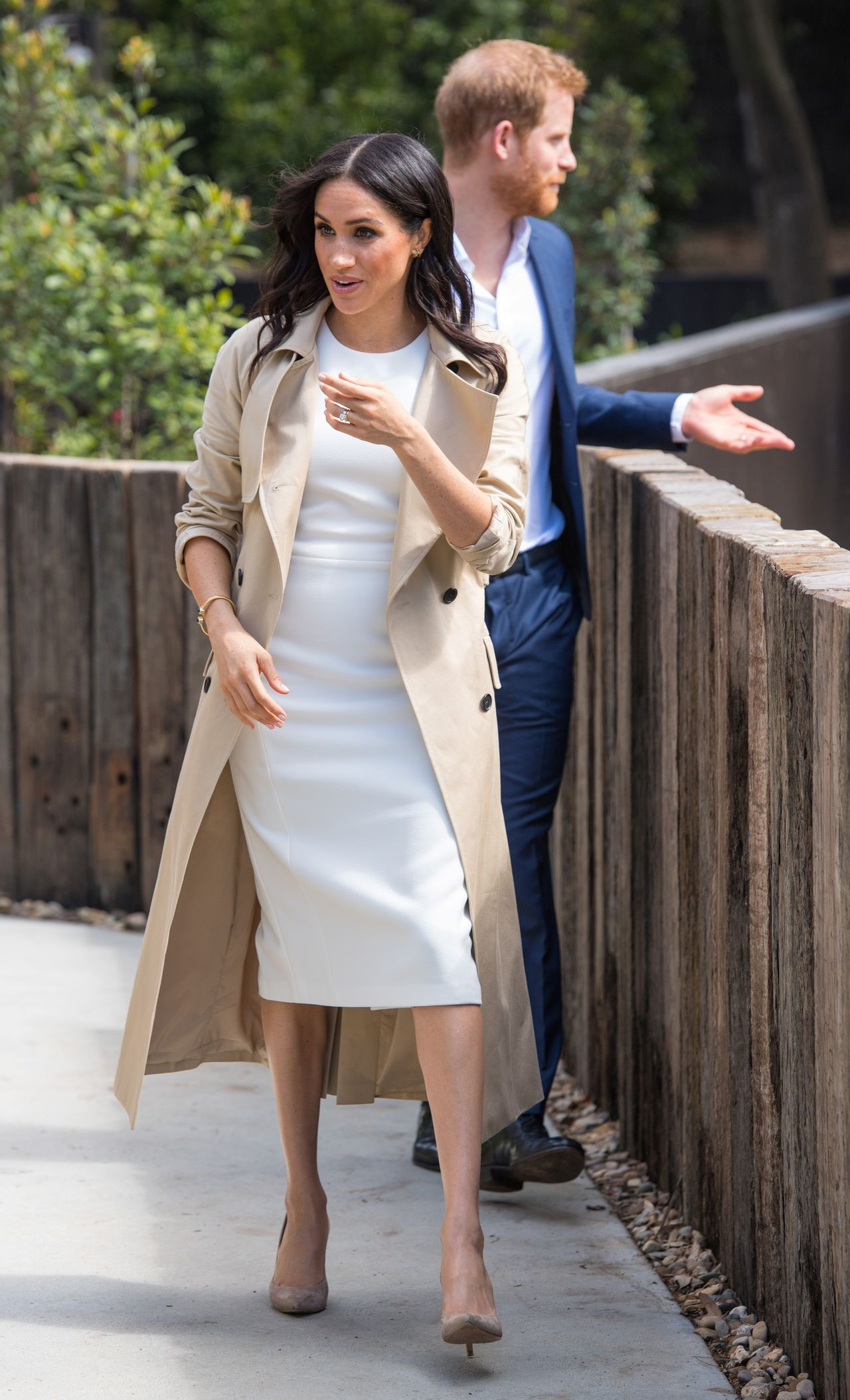 The Duke and Duchess of Sussex during a visit to Taronga Zoo in Sydney on the first day of the Royal couple's visit to Australia