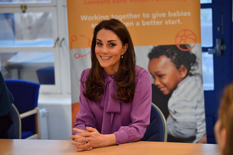 Britain's Catherine, Duchess of Cambridge visits the Henry Fawcett Children's Centre in London
