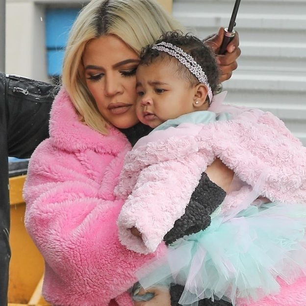 *EXCLUSIVE* Khloe Kardashian puts the cheating drama to the side to take True out for lunch Khloe Kardashian