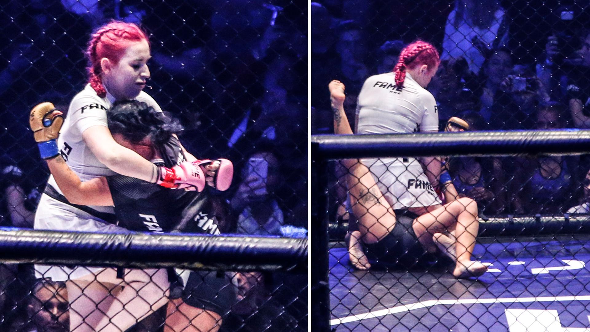 Tak się biły Esmeralda Godlewska i Marta Linkiewicz w ringu FAME MMA 3 – kto wygrał? (ZDJĘCIA)