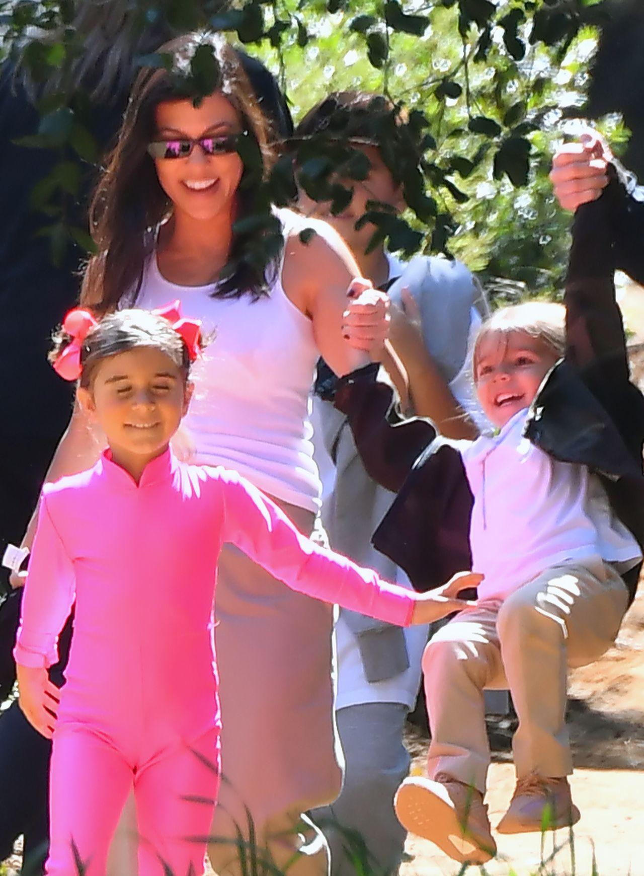 Kourtney Kardashian z dziećmi