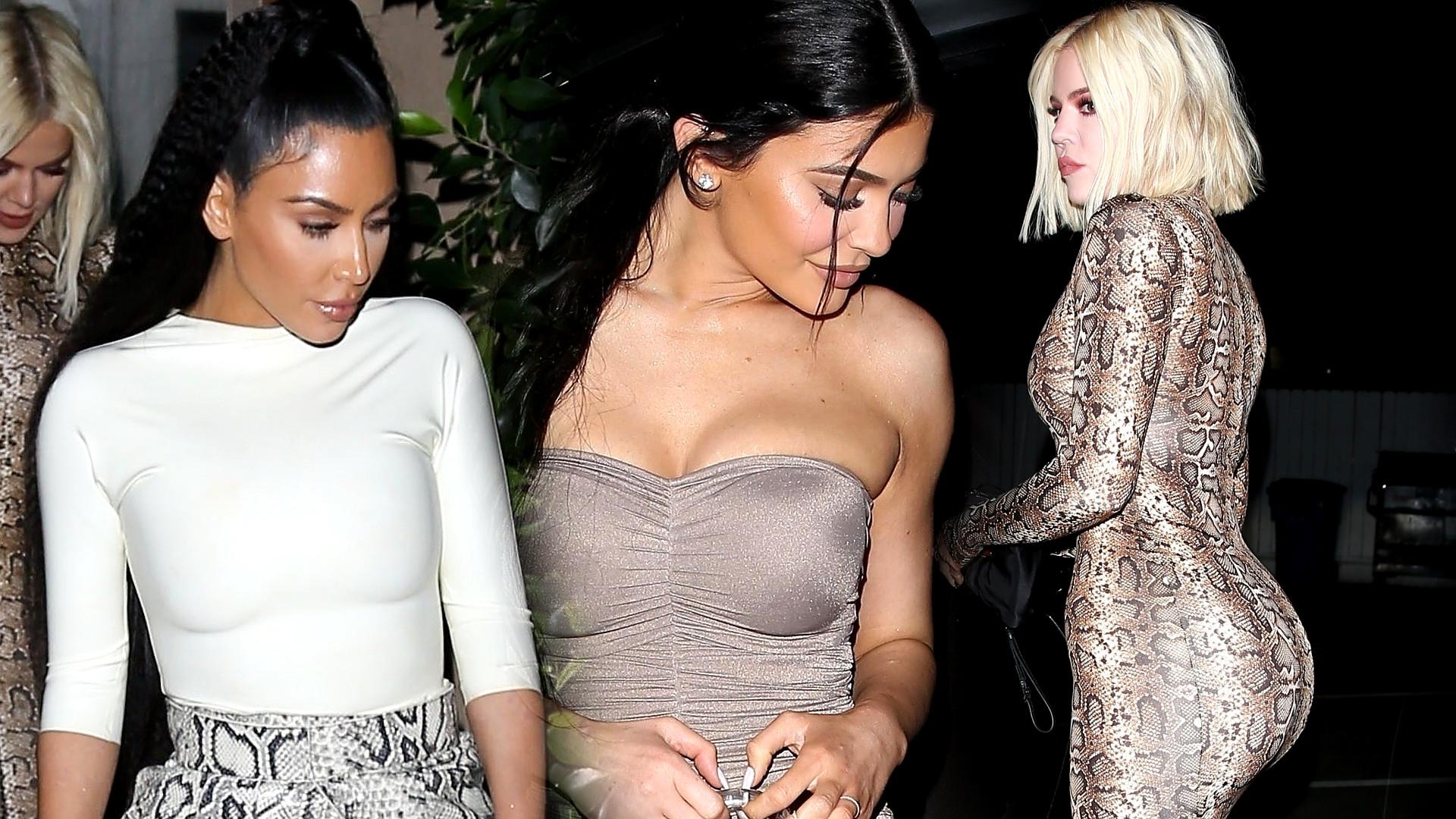 Kim, Kylie, Khloe i Kourtney na kolacji – zobaczcie ich stylówki!