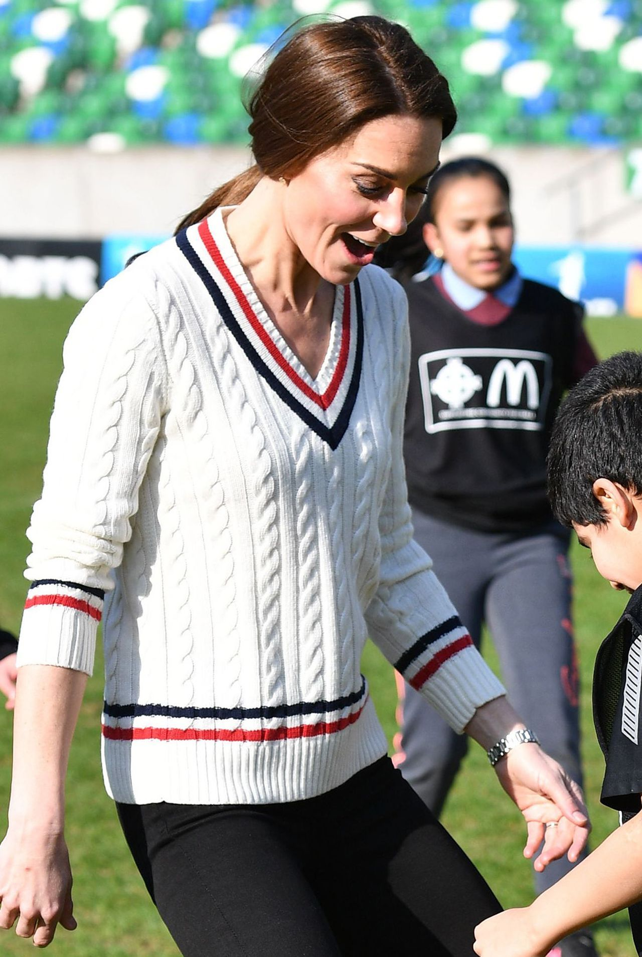 The Duke and Duchess of Cambridge visit the Irish Football Association
