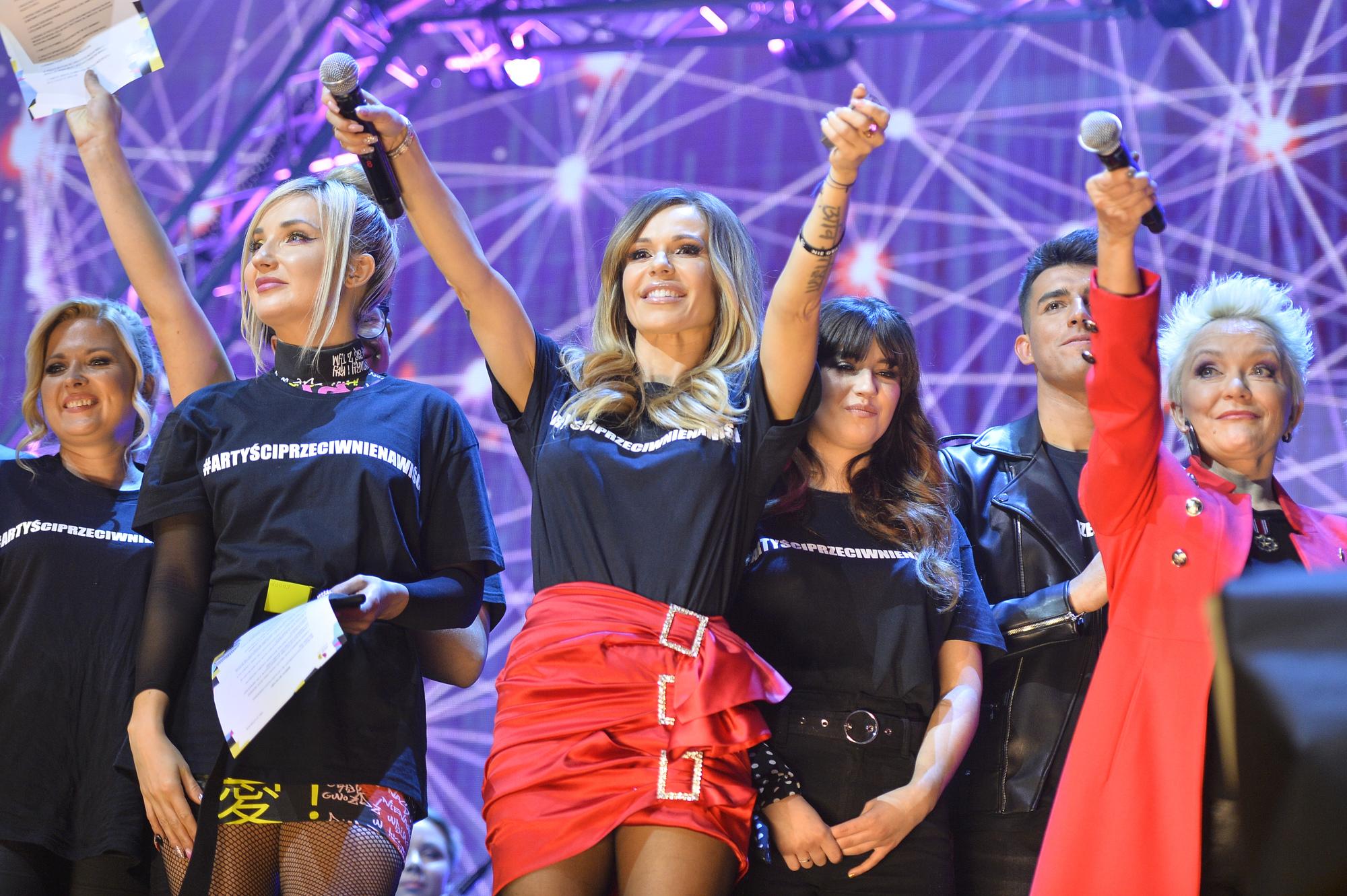 scena z: Cleo, Doda, Małgorzata Ostrowska, SK:, , fot. Piętka Mieszko/AKPA