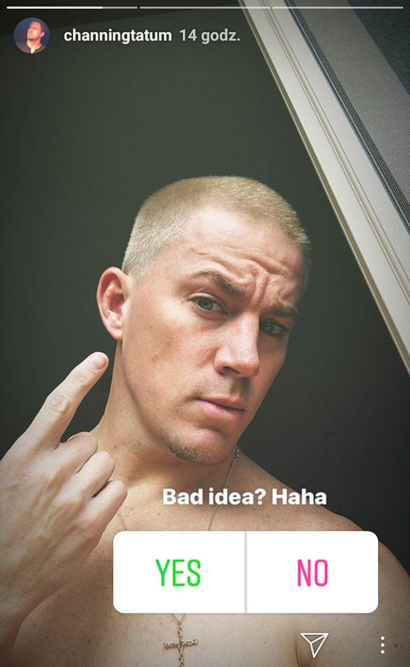 Channing Tatum w blond włosach