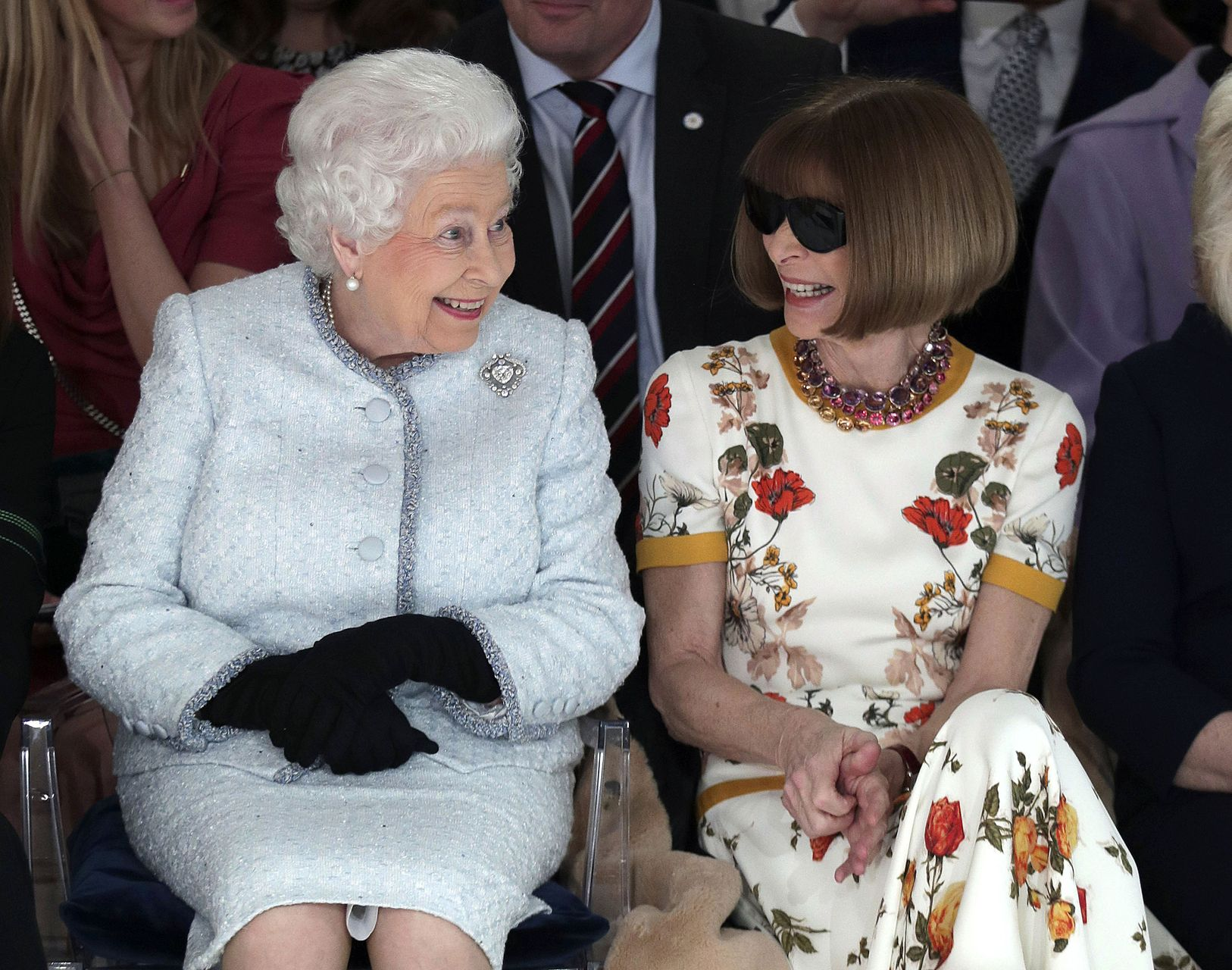 Queen Elizabeth with Anna Wintour