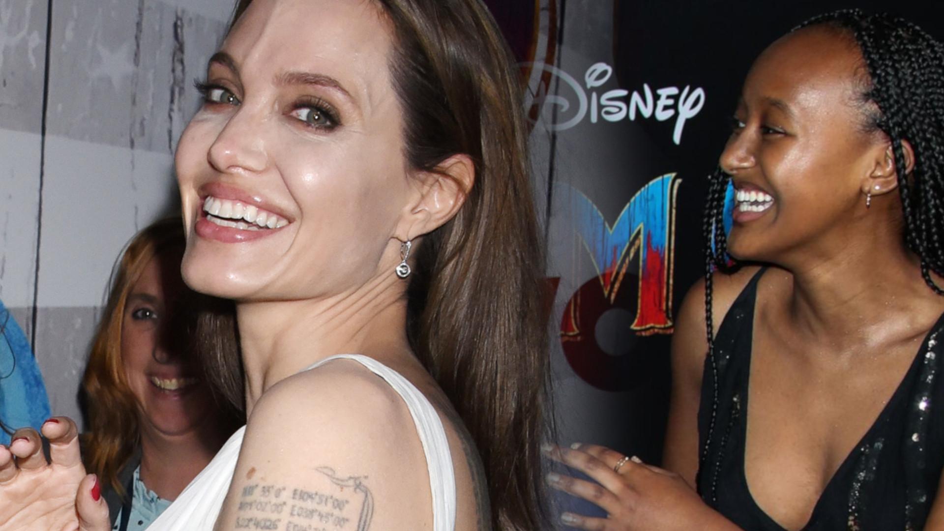 Angelina Jolie na premierze filmu z dziećmi. Zahara wyrasta na prawdziwą piękność (ZDJĘCIA)