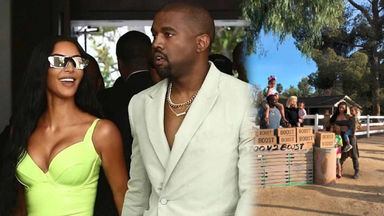 Kim Kardashian i Kanye West sprzedają na stoisku z lemoniadą – buty Yeezys