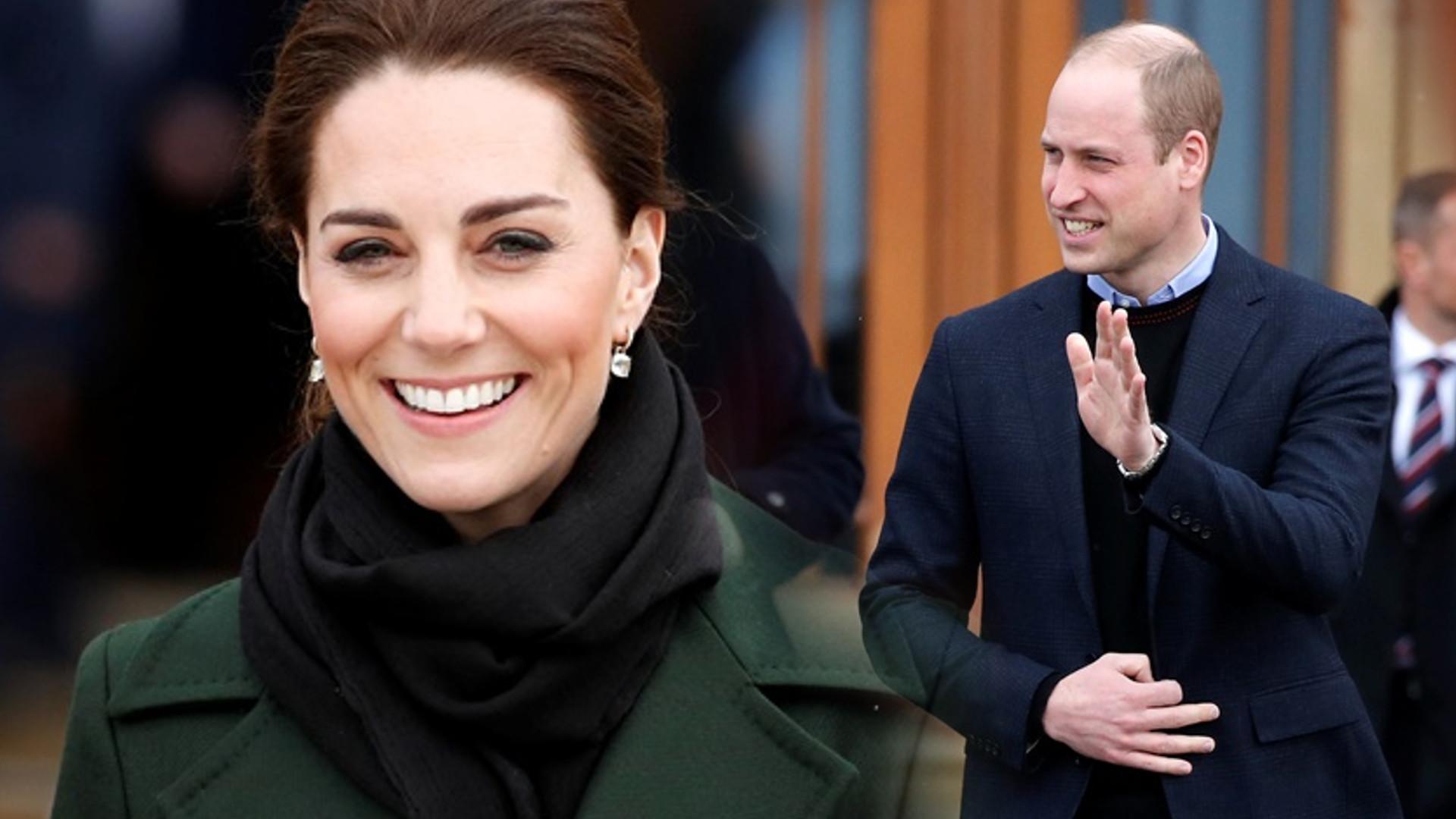 Kate Middleton i książę William okazują sobie czułość w miejscu publicznym. Wszystko uchwyciła kamera (VIDEO)