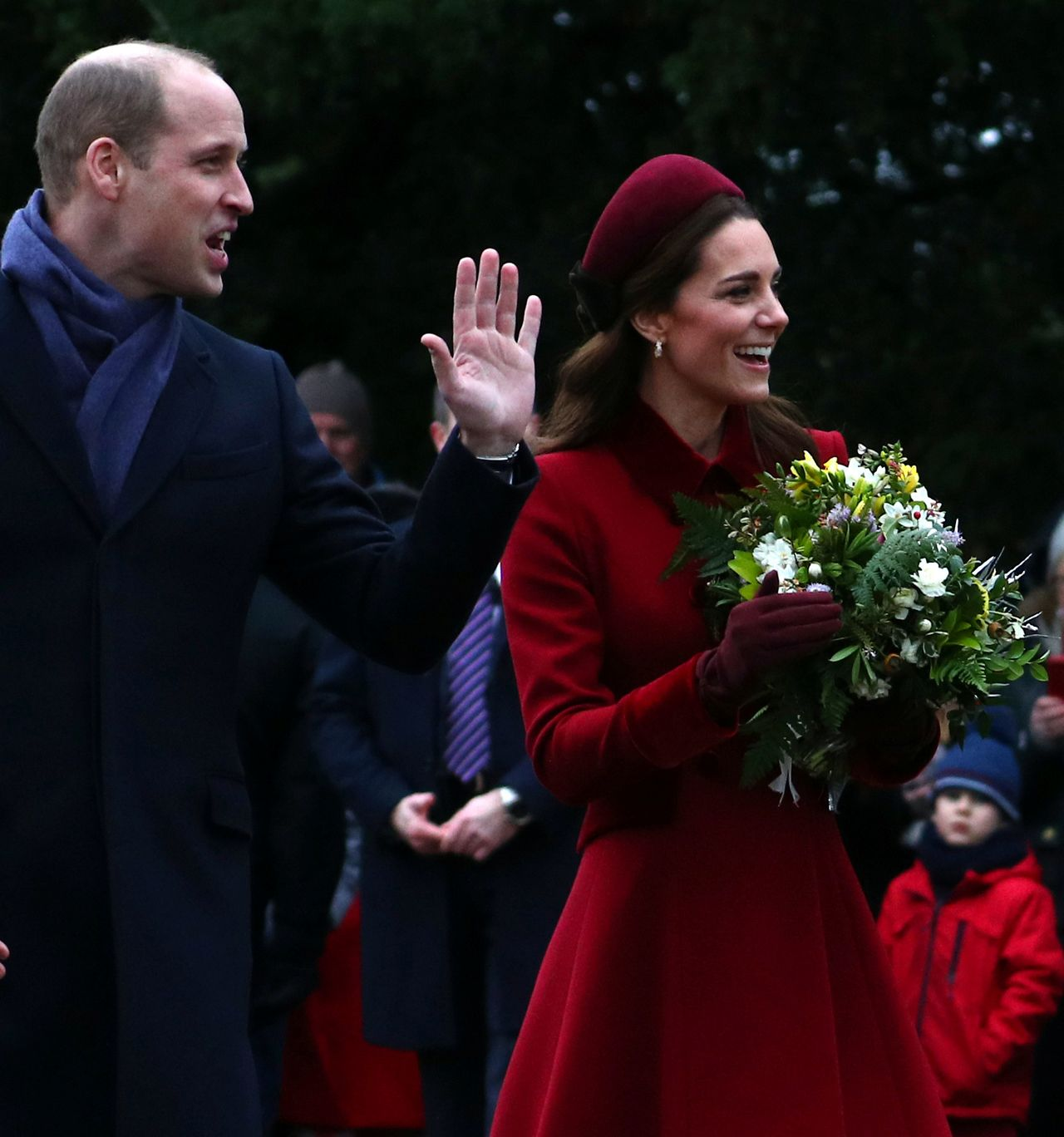 Britain's Prince William, Duke of Cambridge and Catherine, Duchess of Cambridge leave St Mary Magdalene's church after the Royal Family's Christmas Day service on the Sandringham estate in eastern England