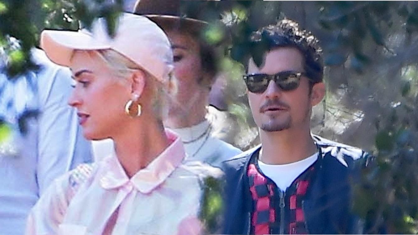 Katy Perry i Orlando Bloom wybrali się na mszę Kanye Westa